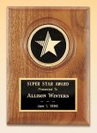 American Walnut Star Plaque Walnut Plaques